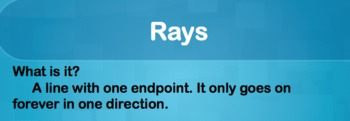 Points Lines Segments and Rays PowerPoint