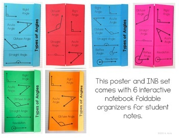 Points Lines and Angles Bundle Posters and Interactive Notebook INB Set