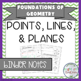Points, Lines, and Planes BINDER Notes