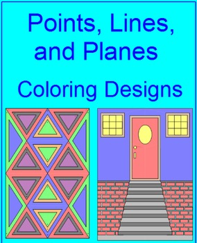 Points, Lines, and Planes - Coloring Activity
