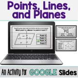 Points, Lines, and Planes - Digital Activity (GOOGLE SLIDE
