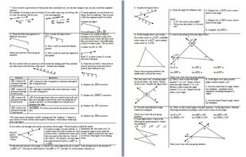 Points Lines and Planes Fall 2013 with Answer Key