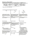 Points Lines and Planes Fall 2013 with Answer Key (Editable)