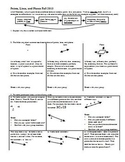 Points Lines and Planes Fall 2013 (Editable)