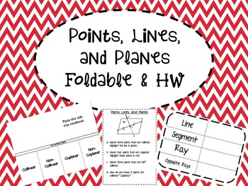Points, Lines, and Planes Foldable, Practice Sheet, and HW