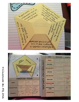 Points, Lines, and Planes Interactive Notebook Vocabulary Activities & Notes