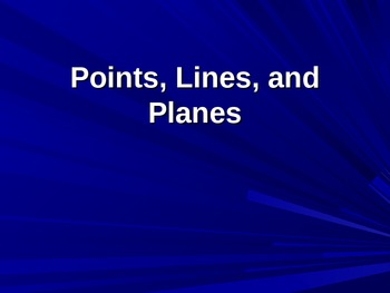 Points, Lines, and Planes PowerPoint