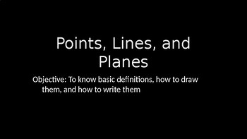 Points, Lines, and Planes - PowerPoint Lesson (1.1)