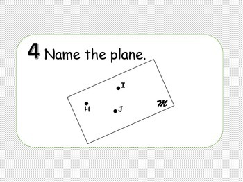 Points, Lines and Planes Review Activity