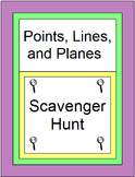 POINTS, LINES, AND PLANES: SCAVENGER HUNT - 20 PROBLEMS