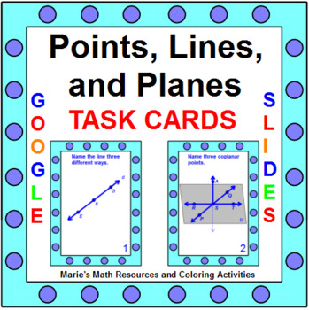 Points, Lines, and Planes TASK Cards (20 cards)