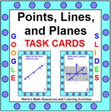 "POINTS, LINES, AND PLANES TASK CARDS:  ""GOOGLE SLIDES"", SM"
