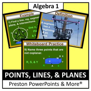 Points, Lines and Planes in a PowerPoint Presentation