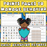 Points Pages Behavior Charts: Plan & Improve with Daily Behavior Reports
