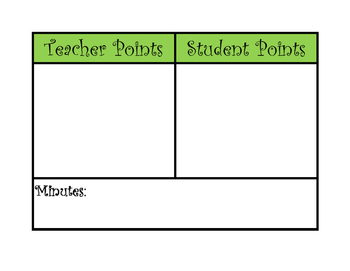 Points System - Classroom Management