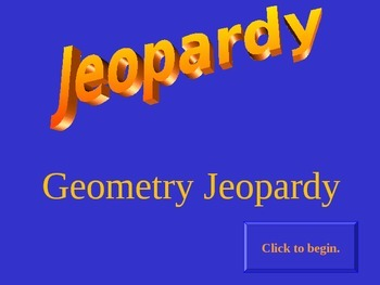 Points of Concurrency - Jeopardy Review