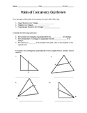 Points of Concurrency Quiz Review