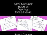 Points of Concurrency and Midsegments Task Cards