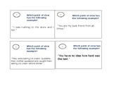 Task Cards Points of View 1st, 2nd, and 3rd
