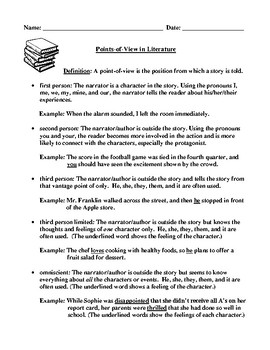 Points-of-View Definition, Explanations, and Examples Printable Study Guide