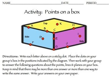 Points on a Box Activity