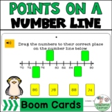 Points on a Number Line Digital   Boom Cards  