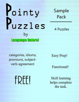 Pointy Puzzles for Language - Free Sample Pack