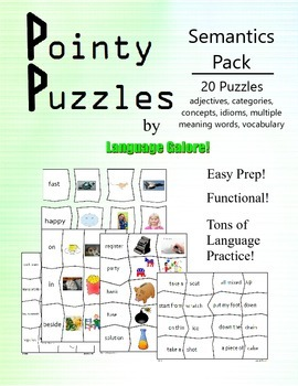 Pointy Puzzles for Language - Semantics Pack