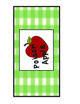 Poison Apple Sight Word Game
