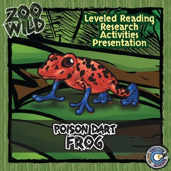 Poison Dart Frog -- 10 Resources -- Coloring Pages, Reading & Activities