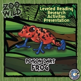 Poison Dart Frog - 15 Zoo Wild Resources - Leveled Reading, Slides & Activities