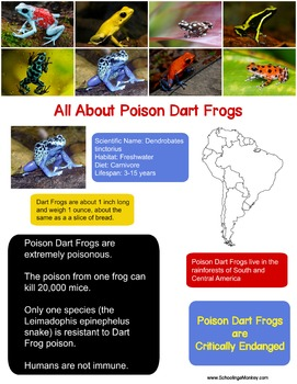 Poison Dart Frog Fact Sheet