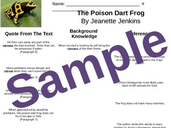 5.RI.1 Poison Dart Frog Inferencing