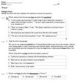"""Poison"" Keystone/Common Core Standards Aligned Quiz and E"