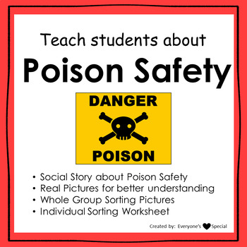 Poison Safety Social Story and Lesson