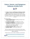 Poison, Venom, and Dangerous Defenses Activity Pack