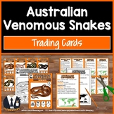 Poisonous Snakes Trading Cards for Games, Rewards, and Projects
