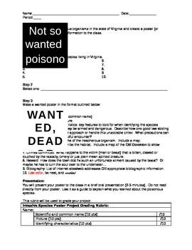 Poisonous Species Poster