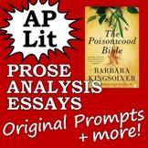 AP Literature Prose Essay Passage/Prompt (Poisonwood Bible)