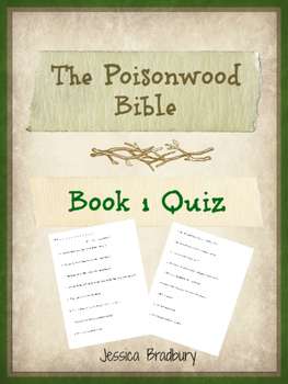 Poisonwood Bible Book 1 Quiz