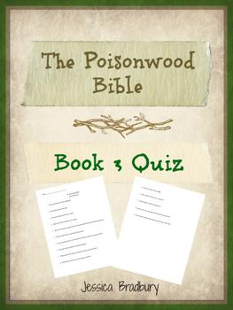Poisonwood Bible Book 3 Quiz