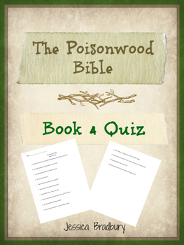 Poisonwood Bible Book 4 Quiz