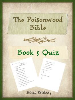 Poisonwood Bible Book 5 Quiz