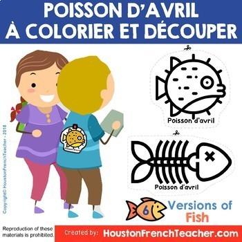 Poisson D Avril 6 Poissons à Colorier Et Découper French