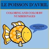 Poisson d'Avril: French April Fools' Day Coloring and Color By The Number Pages
