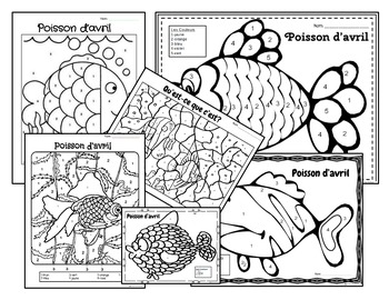 Poisson d'avril-April Fools Day-Activities and Coloring Pages-FSL and Immersion