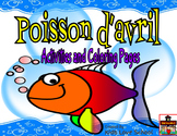 Poisson d'avril-April Fools Day-Activities and Coloring Pa