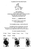 Poisson d'avril April Go Fish French card game rules sheet