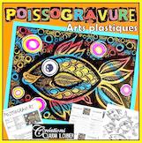 Poisson d'avril: Arts plastiques, cartogravure: Poissogravure