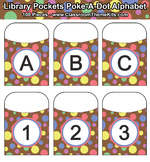 Poke-A-Dot Alphabet Library Pockets